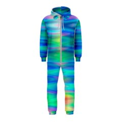Wave Rainbow Bright Texture Hooded Jumpsuit (kids) by BangZart