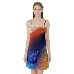 Colorful Pattern Color Course Satin Night Slip by BangZart