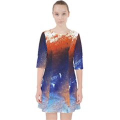 Colorful Pattern Color Course Pocket Dress by BangZart