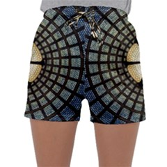 Stained Glass Colorful Glass Sleepwear Shorts by BangZart