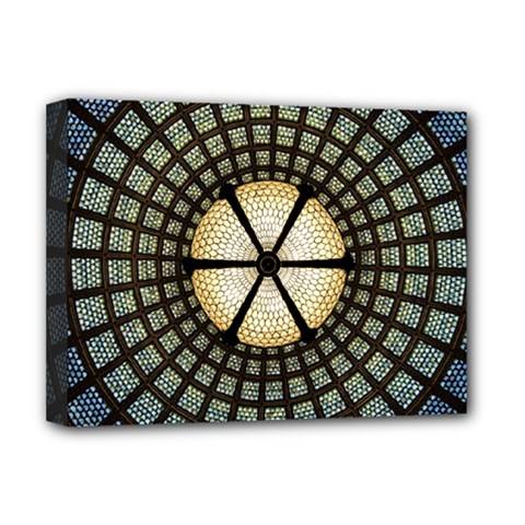 Stained Glass Colorful Glass Deluxe Canvas 16  X 12   by BangZart