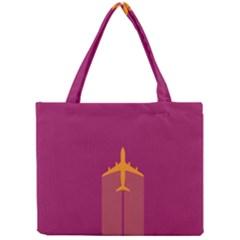 Airplane Jet Yellow Flying Wings Mini Tote Bag