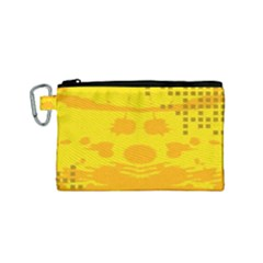 Texture Yellow Abstract Background Canvas Cosmetic Bag (small)