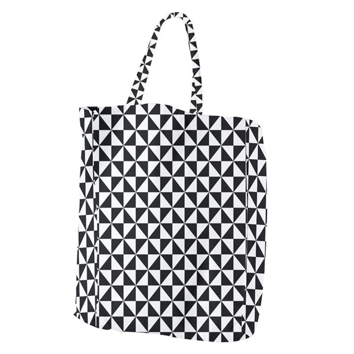 Triangle Pattern Simple Triangular Giant Grocery Zipper Tote