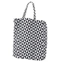 Triangle Pattern Simple Triangular Giant Grocery Zipper Tote View2