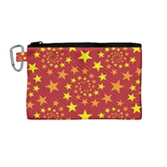 Star Stars Pattern Design Canvas Cosmetic Bag (medium)