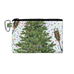 New Year S Eve New Year S Day Canvas Cosmetic Bag (medium)