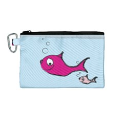 Fish Swarm Meeresbewohner Creature Canvas Cosmetic Bag (medium)