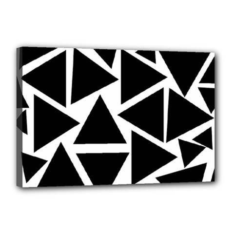 Template Black Triangle Canvas 18  X 12  by BangZart