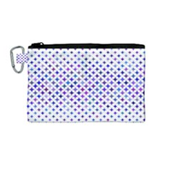 Star Curved Background Geometric Canvas Cosmetic Bag (medium)