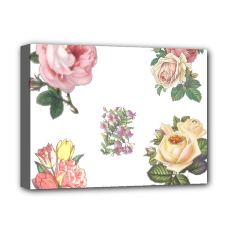 Rose Flowers Campanula Bellflower Deluxe Canvas 16  X 12   by Celenk