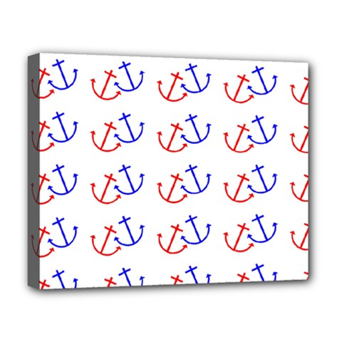 Anchors Nautical Backdrop Sea Nautical Deluxe Canvas 20  X 16   by Celenk