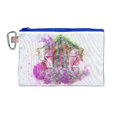 Window Flowers Nature Art Abstract Canvas Cosmetic Bag (large) by Celenk