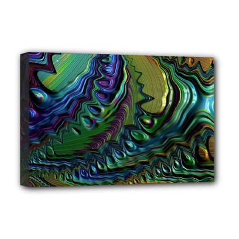 Fractal Art Background Image Deluxe Canvas 18  X 12   by Celenk