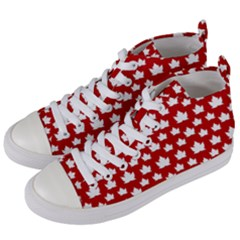 Cute Canada Shoes  Women s Mid Top Canvas Sneakers by CanadaSouvenirs