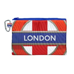 London England Canvas Cosmetic Bag (large) by Celenk