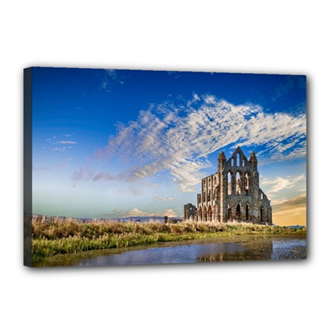 Ruin Church Ancient Architecture Canvas 18  X 12  by Celenk