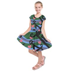 Two Houses Kids  Short Sleeve Dress by snowwhitegirl