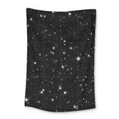 Black Background Texture Stars Small Tapestry by Celenk