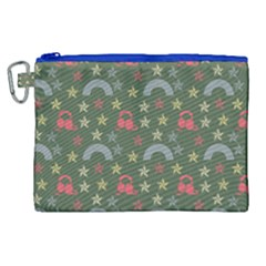 Music Stars Grass Green Canvas Cosmetic Bag (xl) by snowwhitegirl