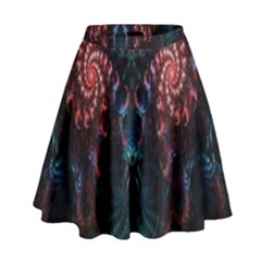 Abstract Background Texture Pattern High Waist Skirt by Nexatart
