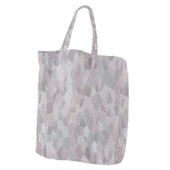 Pattern Mosaic Form Geometric Giant Grocery Zipper Tote