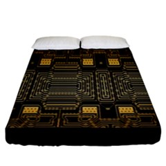 Board Digitization Circuits Fitted Sheet (california King Size)