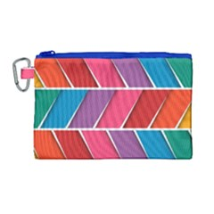 Abstract Background Colorful Canvas Cosmetic Bag (large) by Nexatart