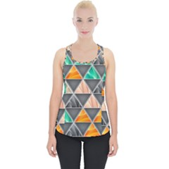 Abstract Geometric Triangle Shape Piece Up Tank Top by Nexatart