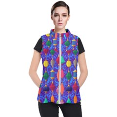Colorful Background Stones Jewels Women s Puffer Vest by Nexatart