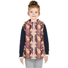 Seamless Pattern Patterns Kid s Puffer Vest by Nexatart