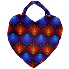 Background Colorful Abstract Giant Heart Shaped Tote by Nexatart