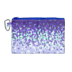 Purple Disintegrate Canvas Cosmetic Bag (large) by jumpercat