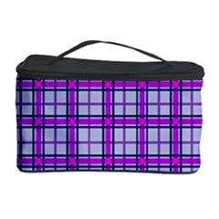 Purple Tartan Cosmetic Storage Case by jumpercat