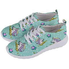 Magical Happy Unicorn And Stars Men s Lightweight Sports Shoes by allthingseveryday