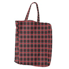 Coke Tartan Giant Grocery Zipper Tote
