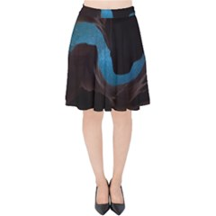 Abstract Adult Art Blur Color Velvet High Waist Skirt by Nexatart