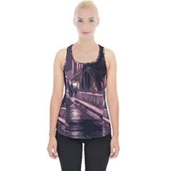 Texture Abstract Background City Piece Up Tank Top by Nexatart