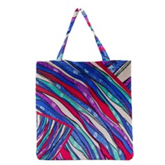 Texture Pattern Fabric Natural Grocery Tote Bag