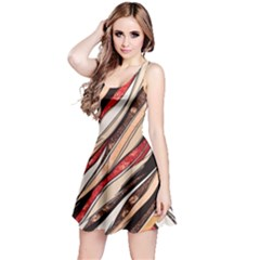Fabric Texture Color Pattern Reversible Sleeveless Dress by Nexatart