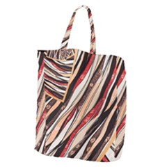 Fabric Texture Color Pattern Giant Grocery Zipper Tote