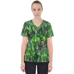 The Leaves Plants Hwalyeob Nature Scrub Top by Nexatart