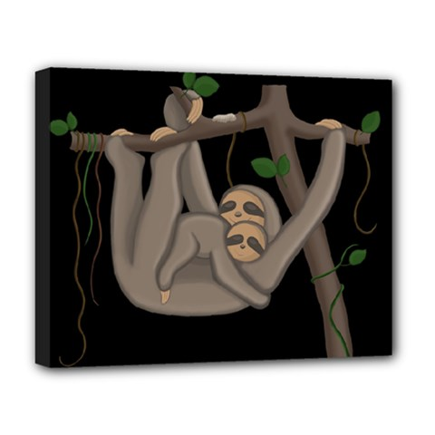 Cute Sloth Deluxe Canvas 20  X 16   by Valentinaart