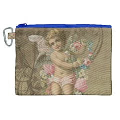 Cupid   Vintage Canvas Cosmetic Bag (xl) by Valentinaart