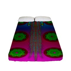 Meditative Abstract Temple Of Love And Meditation Fitted Sheet (full/ Double Size)