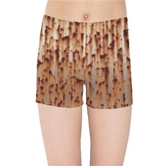 Stainless Rusty Metal Iron Old Kids Sports Shorts by Nexatart