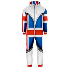 Iceland Flag Europe National Hooded Jumpsuit (men)