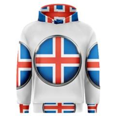 Iceland Flag Europe National Men s Overhead Hoodie
