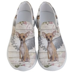 Vintage Chihuahua   Valentines Day Men s Lightweight Slip Ons by Valentinaart