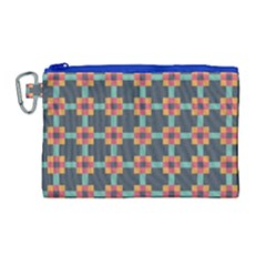 Squares Geometric Abstract Background Canvas Cosmetic Bag (large) by Nexatart